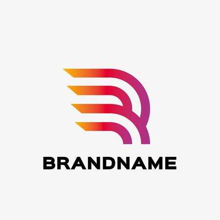 추상 편지 R 로고입니다. 추상 비즈니스 로고 디자인 템플릿입니다. 비즈니스를위한 로고 템플릿을 편집 할 수 있습니다.