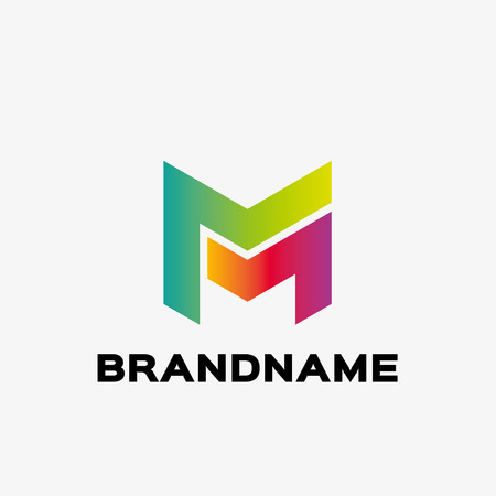 Abstract letter M logo. Abstract business logo design template. Logo template editable for your business.  イラスト・ベクター素材