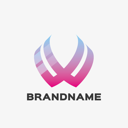 Abstract letter W logo. Abstract business logo design template. Logo template editable for your business.