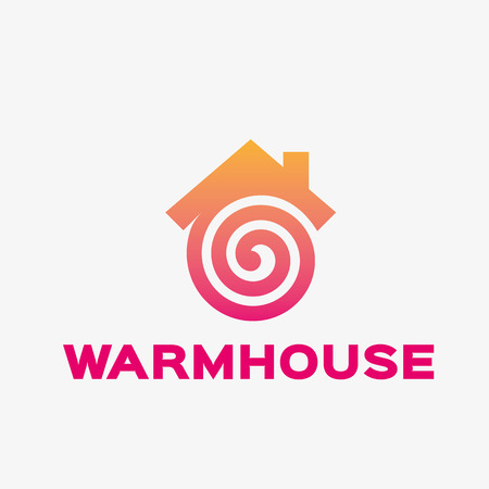 house logo: Abstract house logo. Abstract business logo design template. Logo template editable for your business. Illustration