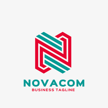 Abstract letter N logo. Abstract business logo design template. Logo template editable for your business. Vectores