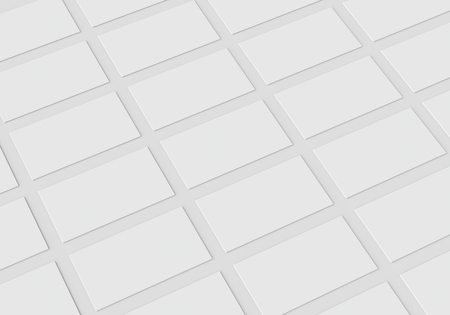 clean up: White stationery mock-up, template for branding identity on gray background. For graphic designers presentations and portfolios. 3D rendering.