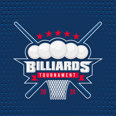Billiards design template emblem tournament template editable for your design. Illustration