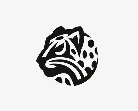Leopard head. Wild cat emblem design editable for your business. Vector illustration. Vectores