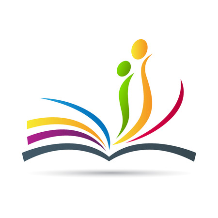 open book: El dise�o de libros de vectores de fondo representa signo y s�mbolo de la educaci�n, la impresi�n y el trabajo editorial.