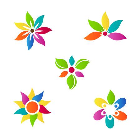 抽象的な花ベクター デザインを表す装飾と会社目的。  イラスト・ベクター素材