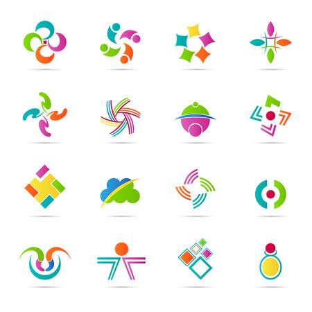 抽象的なアイコン ベクトル設計デザイン要素と会社を表します