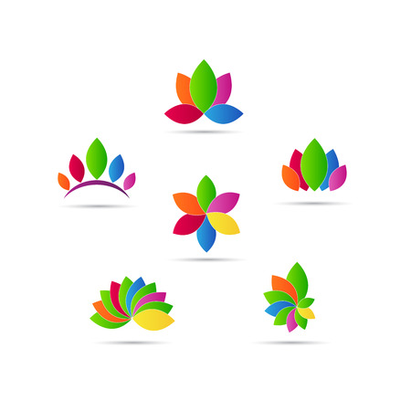 Abstract leaf design represents decorative elements and company