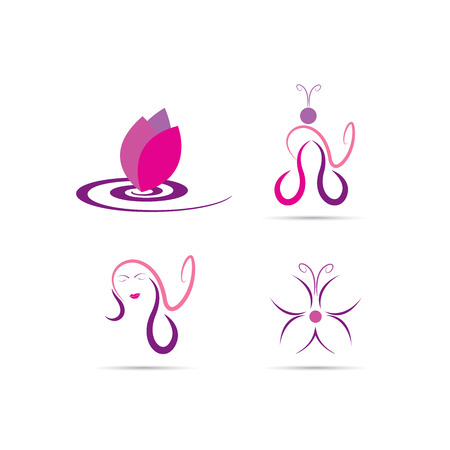 スパ、メイク、サロンや化粧品美容師のベクターを表します。  イラスト・ベクター素材