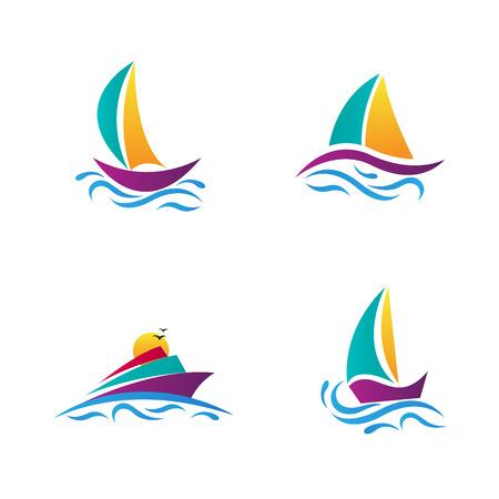ボートのベクトルのデザインは、旅行、交通、スポーツ コンセプトを表します。  イラスト・ベクター素材