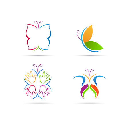 Butterfly vector design represents fashion, beauty and spa concept Stock Illustratie