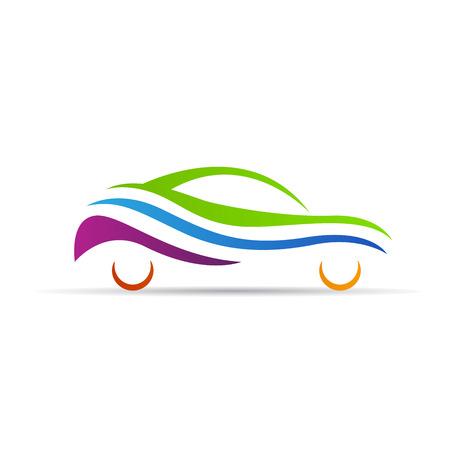 抽象的な車ロゴ ベクター デザインの白い背景に分離されました。