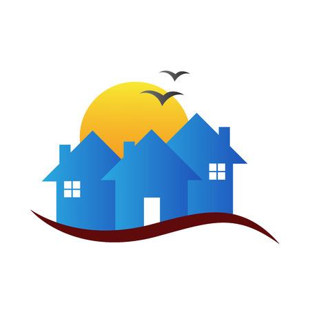 家ベクトル設計不動産ロゴ、建設、サインとシンボルを表します。
