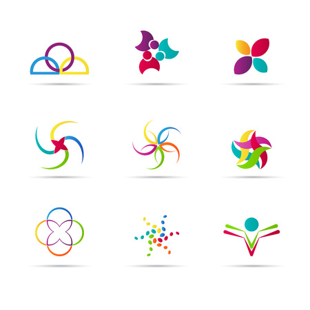 ロゴの要素はベクター デザイン ロゴ設計目的に使用します。  イラスト・ベクター素材