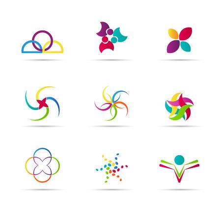Logo elements vector design used for logo design purpose.