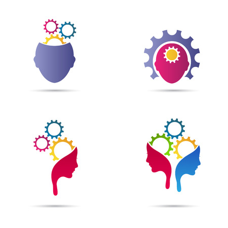 thinker: Mind gear vector design represents creative thinking and different business ideas concept. Illustration