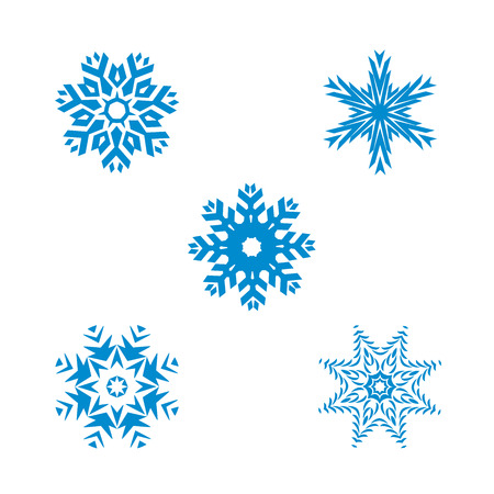 Snow flakes vector design isolated on white background.