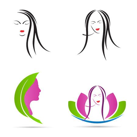 スパ女の子ベクター デザインは、ファッション、ビューティー、スパの概念を表します。