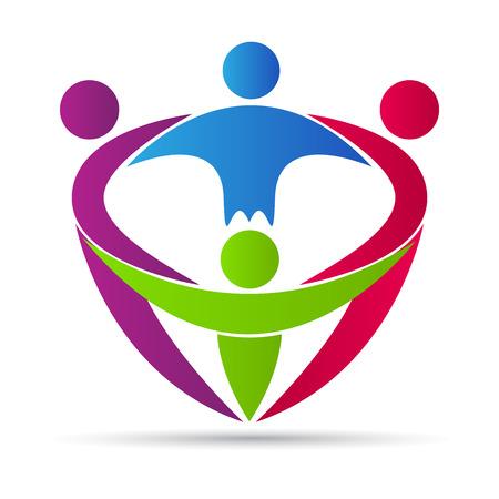 グローバル チームのベクトル デザインはチームワークの概念を表します。  イラスト・ベクター素材