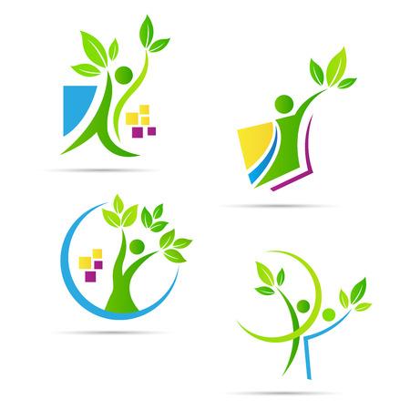 人木ベクターは、エコロジー自然概念を表します。