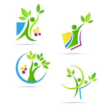 represents: People tree vector design represents ecology nature concept.