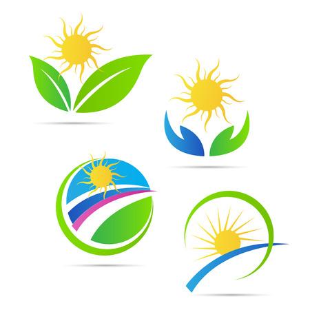 太陽アイコン ベクトル、白い背景で隔離のデザインです。
