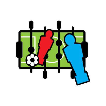 foosball icon, vector illustration Stock Illustratie