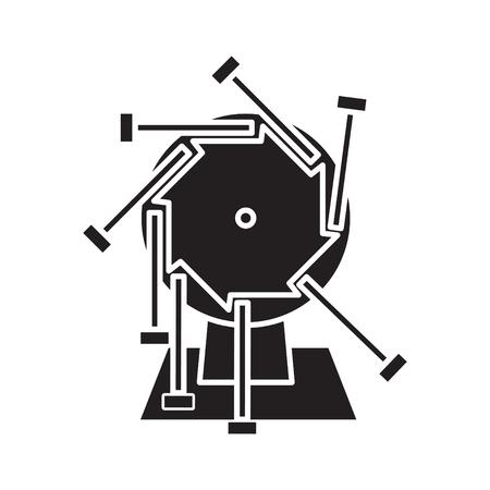 perpetual motion, vector illustration Stock Illustratie