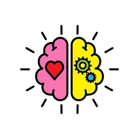 논리와 감정의 균형 일러스트