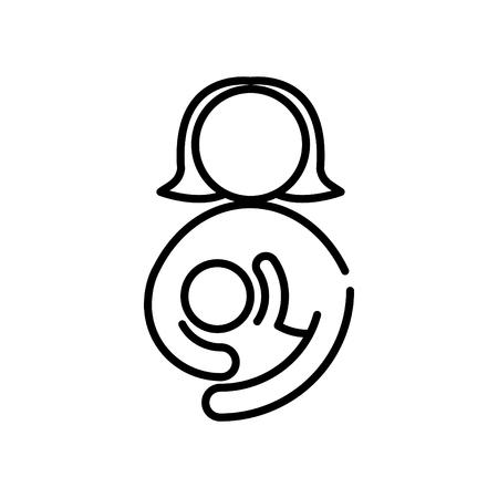 Icona di alimentazione della madre, illustrazione vettoriale