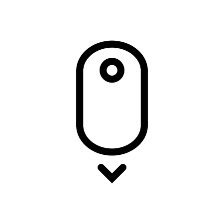 Scroll down up - computer mouse icon. - vector illustration. Imagens - 97736487