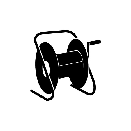 extension cord storage reel icon,