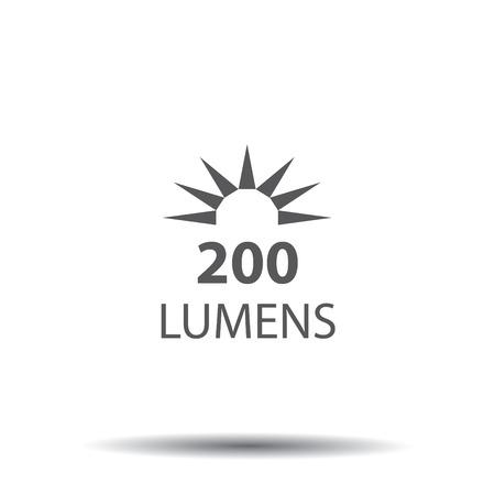 Lumen icon with sun image design.