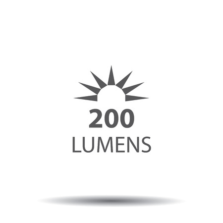 Lumen icon with sun image design.