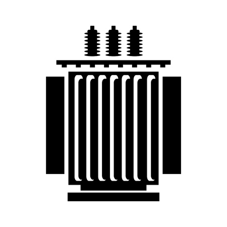 Electric transformer icon vector illustration.