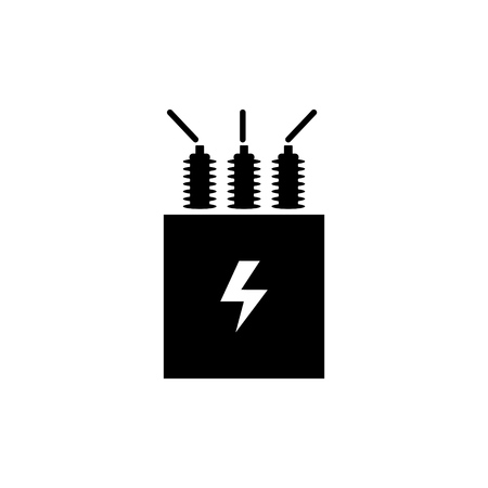 Electric transformer icon vector illustration. Standard-Bild - 98081894