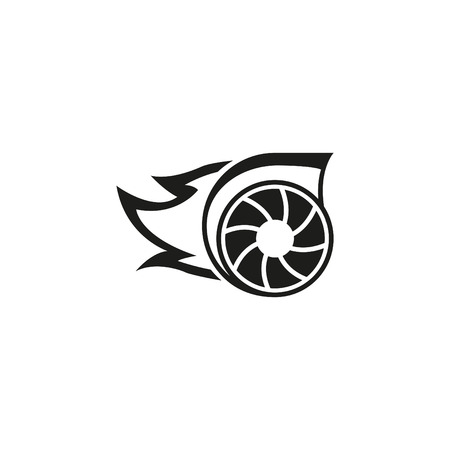 Turbo icon in Monochrome Illustration. Çizim