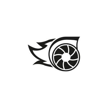 Turbo icon in Monochrome Illustration. Stock Illustratie
