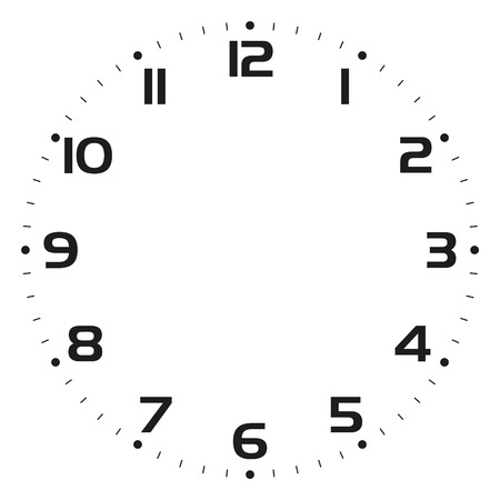 Clock face Vector illustration Illustration