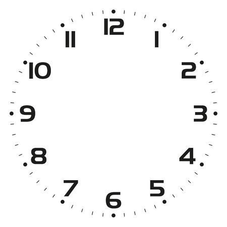 Clock face Vector illustration Stock Illustratie