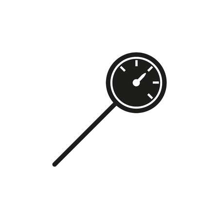 kitchen thermometer icon - vector illustration