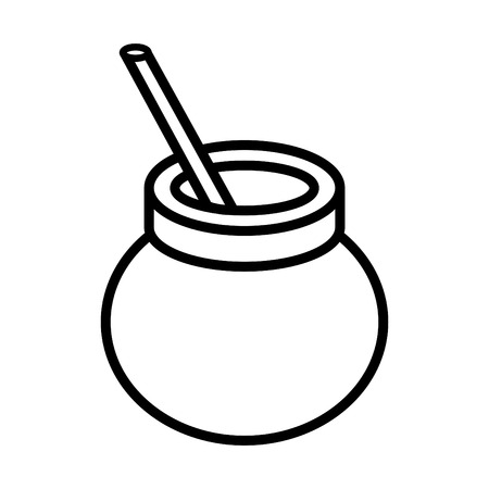yerba mate icon Illustration