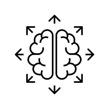 change thinking icon. Illustration