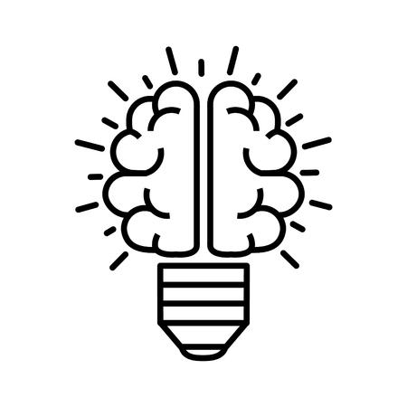 Brain bulb icon 일러스트