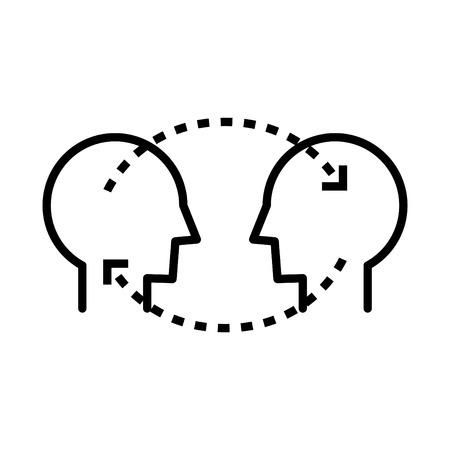 Transferring skills icon Illusztráció