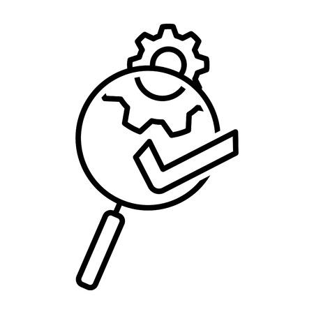 Evaluation icon, vector illustration Illustration