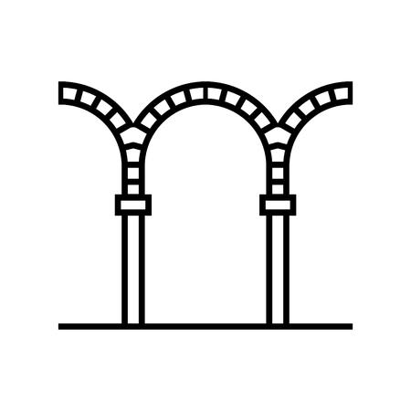 Arch icon, vector illustration