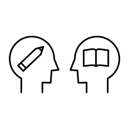 Mentor icon, vector illustration
