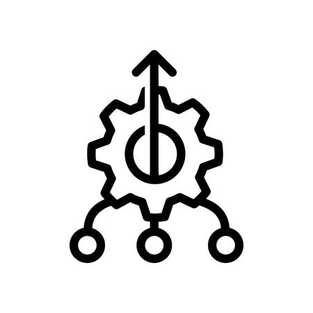 Icono de consolidación, ilustración vectorial