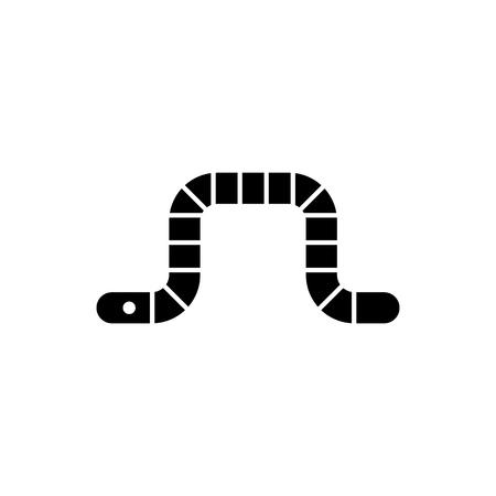 Worm icon vector illustration